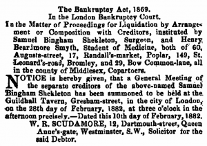 London Gazette (14/Feb/1882)